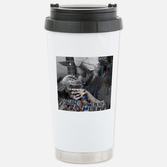 Oceans in Space wires Stainless Steel Travel Mug