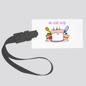 cake lady Large Luggage Tag