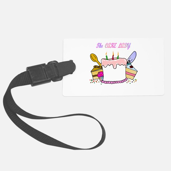 cake lady.png Luggage Tag