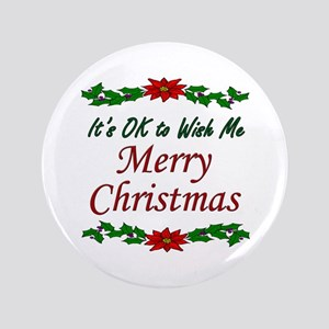 """Merry Christmas!"" 3.5"" Button"