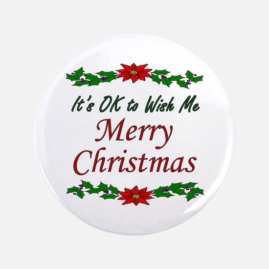 """Merry Christmas!"" 3.5"" Button"