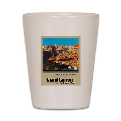 Grand Canyon Travel Poster 2 Shot Glass