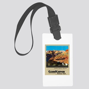 Grand Canyon Travel Poster 2 Large Luggage Tag