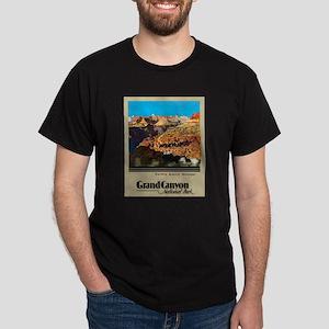 Grand Canyon Travel Poster 2 Dark T-Shirt