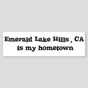 Emerald Lake Hills - hometown Bumper Sticker