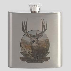 Mule deer Painting Flask