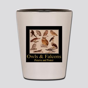Owls & Falcons Shot Glass