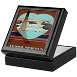Paris Travel Poster Keepsake Box