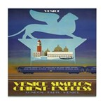 Travel Poster, Venice Tile Coaster