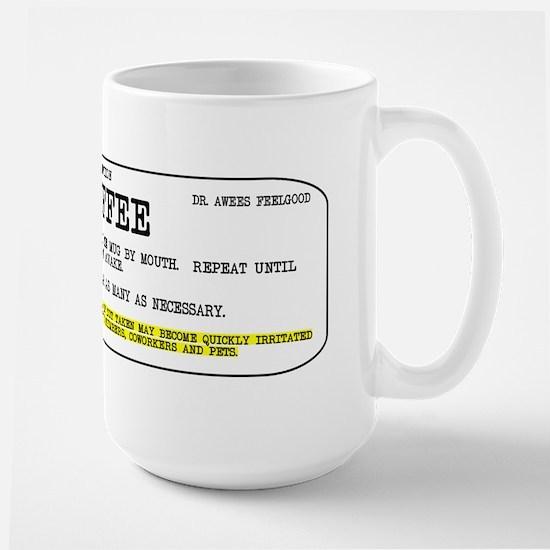 Coffee Prescription Large Mug