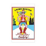 CRIME BUSTER(American Cowboy) Sticker (Rect.)