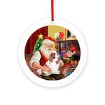 Santa/Cavalier (BL) Ornament (Round)