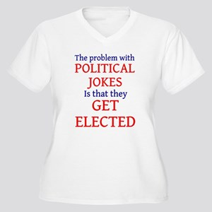 Problem with political jokes Women's Plus Size V-N