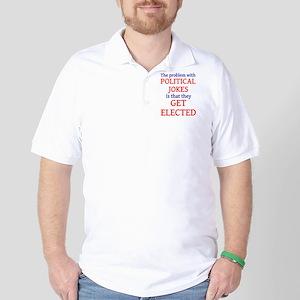 Problem with political jokes Golf Shirt