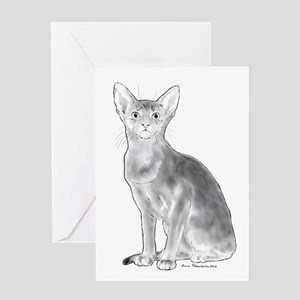 Black and White Aby Greeting Card