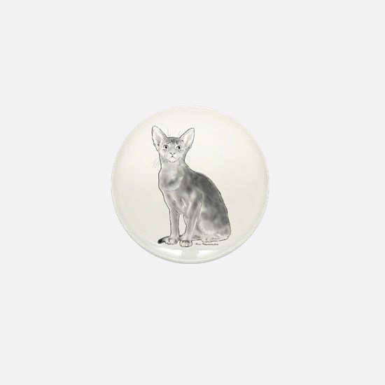 Black and White Aby Mini Button