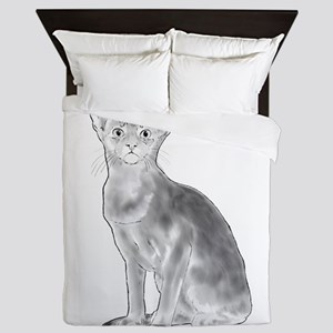 Black and White Aby Queen Duvet