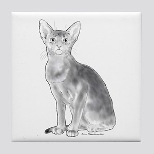 Black and White Aby Tile Coaster