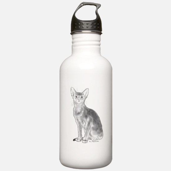 Black and White Aby Water Bottle