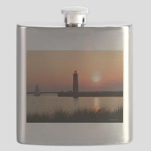 Muskegon Lighthouse 1 Flask