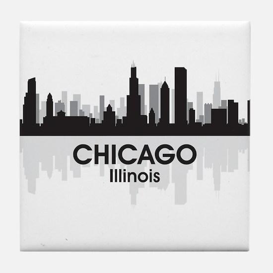 Chicago Skyline Tile Coaster