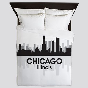 Chicago Skyline Queen Duvet