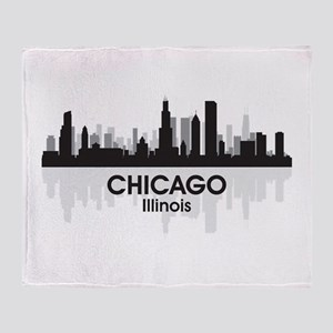 Chicago Skyline Throw Blanket