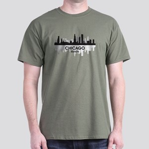 Chicago Skyline Dark T-Shirt
