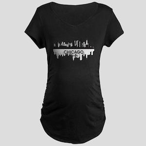 Chicago Skyline Maternity Dark T-Shirt