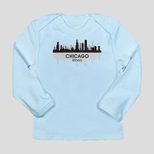 Chicago Skyline Long Sleeve Infant T-Shirt