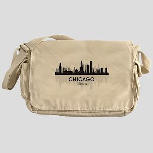 Chicago Skyline Messenger Bag