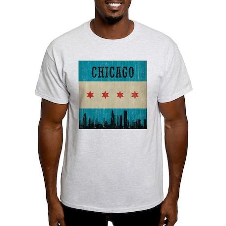 Vintage Chicago Skyline Light T-Shirt