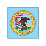 Illinois State Seal Square Sticker 3