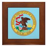 Illinois State Seal Framed Tile