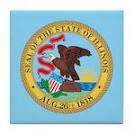 Illinois State Seal Tile Coaster