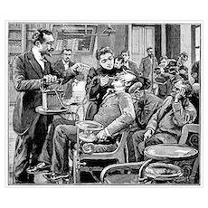 Dental surgery, 19th century Poster