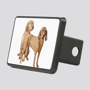 two redbone coonhounds Rectangular Hitch Cover