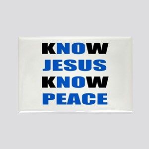 kNOw JESUS kNOw PEACE Rectangle Magnet