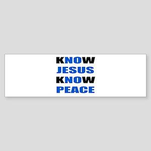 kNOw JESUS kNOw PEACE Sticker (Bumper)