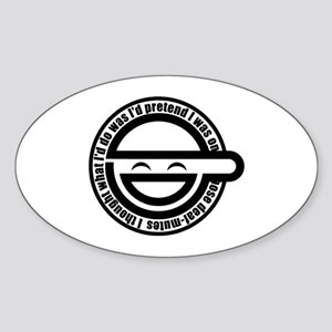 Laughing Man Sticker (Oval)