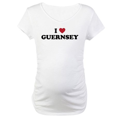 I Love Guernsey Maternity T-Shirt