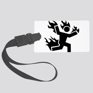 Man on Fire Large Luggage Tag