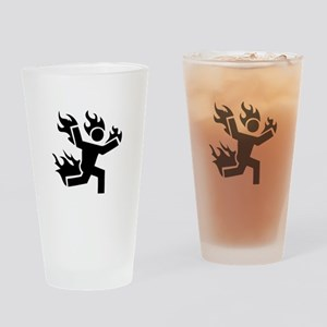 Man on Fire Drinking Glass