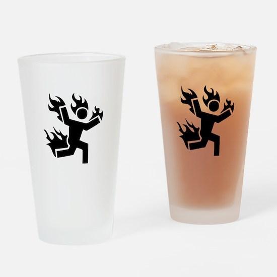 Man on Fire Drinking Glass