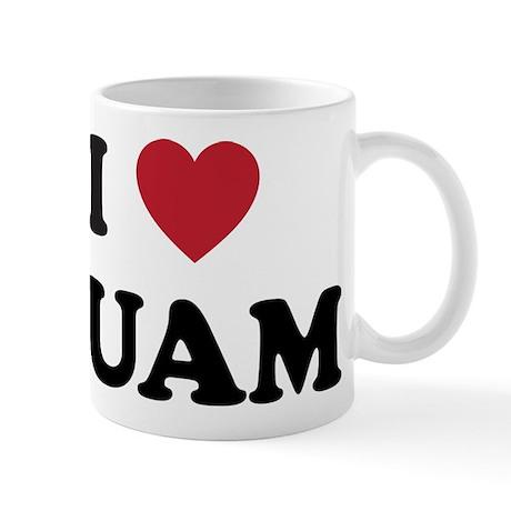 I Love Guam Mug