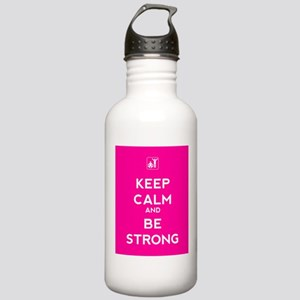 Keep Calm and Be Strong Stainless Water Bottle 1.0
