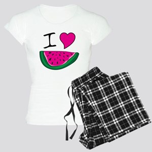 I Love Watermelon Women's Light Pajamas