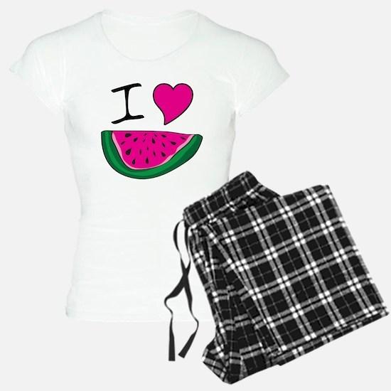 I Love Watermelon Pajamas