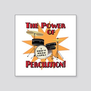 "Drum Power Square Sticker 3"" x 3"""