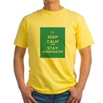 Keep Calm and Stay Underwater Yellow T-Shirt